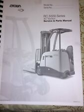 CROWN FC 5500 SERIES AC TRACTION SERVICE & PARTS MANUAL. FORKLIFT EQUIPMENT BOOK