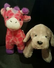 Webkinz MAY PLUSH ONLY LOT:  ENCHANTED GIRAFFE + SILVER LABRADOR -JUST PLUSH