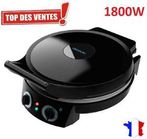 Four a Pizza Electrique Double Plaque Antiadhésive Grill Professionnel 1800W