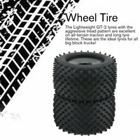 Wheel Tire 1/8 Truggy RC Car HPI-Racing GT2 Tires and Rim for Monster Truck