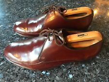 Men's BARKER's Brown All Leather Lace Up Shoes UK 8, EU 42 - Good Condition!