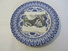 Antique Royal Doulton Gibson Girls Pottery Rack Plate Mrs Diggs Is Alarmed 1900