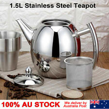 1500ML Stainless Steel Teapot Coffee Pot with Strainer 1.5L