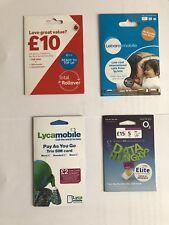 100x mix sims ,Vodafone,lebar,Lyca,02 wholesale joblot. Bulk SIM cards