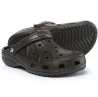 Crocs Men's Ralen Clog Slingback Shoes Black Size 8 9 10 11 Roomy Fit New