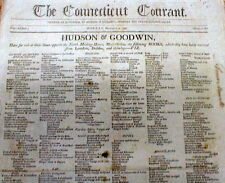 1799 newspaper PRESIDENT JOHN ADAMS 1st to occupy the WHITE HOUSE Washington DC