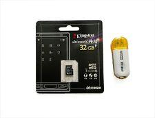 Genuine 32 GB Kingston UltimateX Micro SD HC Class 10 plus Card reader, 8GB 16GB