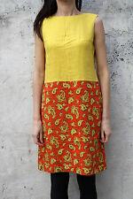 GUY DE LEO NARDUCCI Femme vintage 70 S ART DECO MOTIF FLORAL doublé ambiance M