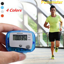 LCD Pedometer Step Walking Jogging Calorie Counter Distance Fitness+Belt Clip US