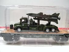 Menards ~ O Gauge Military Flatcar with Army Truck and Missile - NEW!