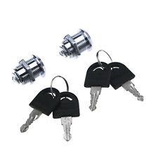 2X Tubular Cam Lock With 20mm Cylinder 4 Keys Pull Drawer Cabinet Toolbox