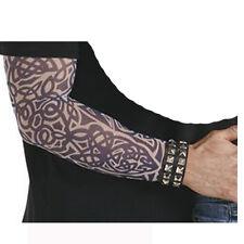 Faux tatouage tattoo sur 1 manche motifs noirs variés tribaux [7979triballarg]
