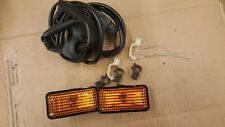 VW PASSAT B3 35i HELLA SIDE TURN SIGNAL INDICATOR LIGHT PAIR WITH WIRING LOOM