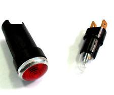 Luz / Piloto Tablero Coche Antiguo / Clasico 12v Universal 18mm ROJO