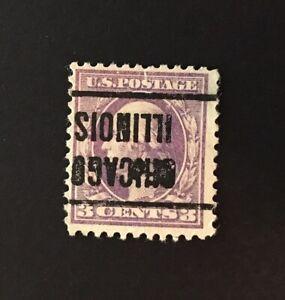 Chicago, Illinois INVERT Precancel - 3 cents Washington (U.S. #529) sm. tear IL