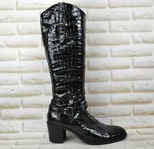 NERO GIARDINI Womens Leather Long High Knee Heeled Boots Italy Size 7.5 UK 41 EU
