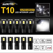 10x 194 168 T10 Xenon White 5630 LED Interior Map Dome Marker License Light Bulb