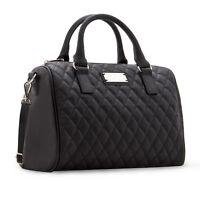 Frauen Damen Handtasche Schwarz Farbe Eimer Große Schultertasche Große tasc G0F3