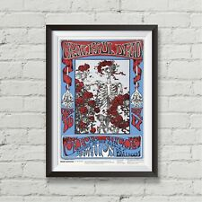 Grateful Dead concert poster Avalon Ballroom canvas print Family Dog