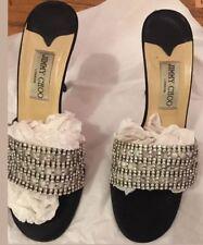 JIMMY CHOO  Black All Crystals Beautiful Shoe size 40