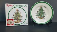 """SET OF 4 Spode Christmas Tree Party Plates 6"""" Made in ENGLAND New in Box"""