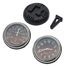 Auto Uhr Auto Quarzuhr KFZ Auto Innen & Außen selbstklebendes Thermometer