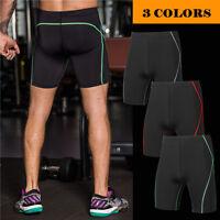 Mens Sports GYM Compression Shorts Under Base Layer Athletic Tights Shorts Pants