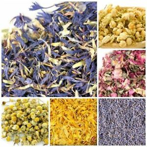 DRIED FLOWERS & PETALS - ROSE LAVENDER CHAMOMILE MARIGOLD COSMETIC USE