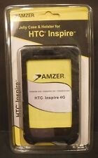 New Amzer Jelly Case & Holster For HTC Inspire 4G Belt Clip #91014