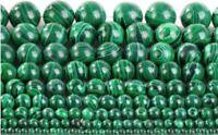 Natural Malachite Gemstone Round Beads 15.5'' Strand 4mm 6mm 8mm 10mm 12mm 20mm