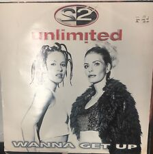 "2 UNLIMITED Wanna Get Up 12"" Single VG+ Vinyl Belgium 1998 Electronic House"