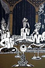 Anne Fish 1922 Group PERSIAN IRANIAN Men Elders Gold Tones Art Deco Print Matted
