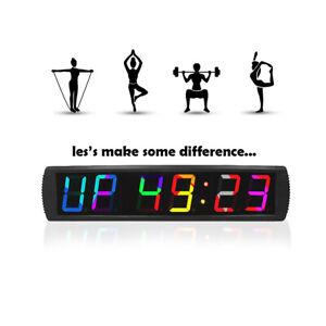 Big Gym Crossfit Clock LED Fitness Interval Timer Wall Gym Digital Countdown