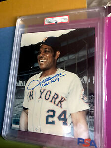 """Willie Mays Signed 8x10 Color photo - PSA/DNA - """"SAY HEY"""" - METS - BEAUTY -"""