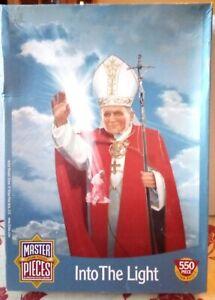Into the light Large Piece Jigsaw Puzzle Pope John Paul II Benedict XVI Rare USA