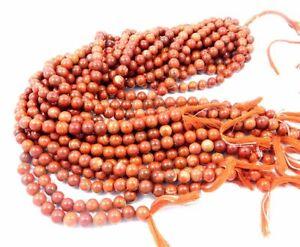 Red jasper 8mm Round Gemstone Handmade 1 strand Beads Necklace Jewelery M15