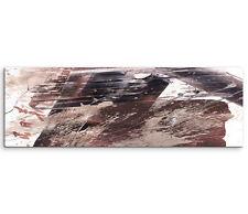 Leinwandbild Panorama braun schwarz beige Paul Sinus Abstrakt_526_150x50cm