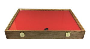 Oak Wood Display Case 18 x 24 x 3 for Arrowheads Knives Collectibles & More