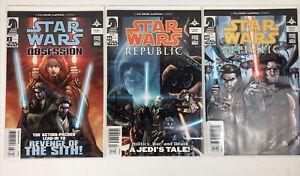 STAR WARS REPUBLIC & Obsession 1 Dark Horse  Clone Wars Comic Newsstand Variant