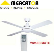 Mercator FC039138WH GRANGE DC II Ceiling Fan with Remote Control 1300mm White