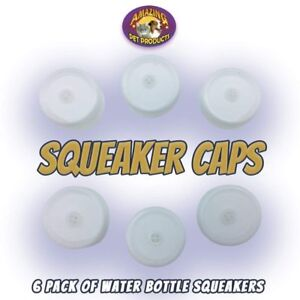 6 Pack of Squeaker Caps for Amazing Pet Bottle Shaggies Fits Most Plastic...