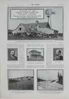 1902 Estampado Abertura Granja Lands Occidental Canada Mr Mann Manitoba Granja