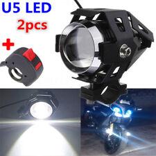 3000Lm U5 Motorcycle Bike LED Headlight Driving Fog Spot Light Lamp Kill Switch