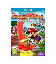 Paper Mario color Splash Wii u videojuego Físico Nintendo WiiU