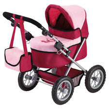 Bayer Design 13014 Puppen Kinderwagen - Bordeaux/Rosa