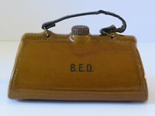RARE ANTIQUE BOURNE DENBY STONEWARE HOT WATER BOTTLE BED FOOT WARMER GLADSTONE