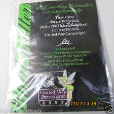 Disney United Way Participant 03 Tinker Bell w card Pin