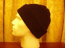 Knitted Beanie in 100% Merino Wool Black,green, red or cream
