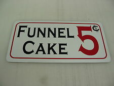 FUNNEL CAKE Sign Party Amusement Park World County FAIR Popcorn Carnival