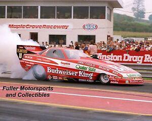 KENNY BERNSTEIN 1989 BUDWEISER BUICK NHRA FUNNY CAR 8X10 PHOTO MAPLE GROVE PA
